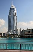 Skyscraper on the Burj Dubai Lake.