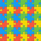 Puzzles. Seamless color pattern