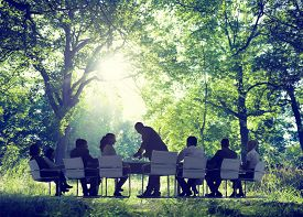 picture of nature conservation  - Business People Nature Conference Environmemt Conservation - JPG