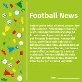 stock photo of offside  - Football card for advertising or news - JPG