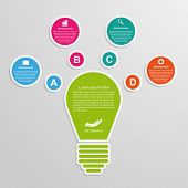stock photo of lightbulb  - Abstract business concept infographic template - JPG