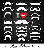 foto of moustache  - Moustaches set - JPG