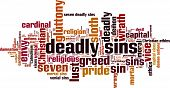 foto of sinful  - Deadly sins word cloud concept - JPG