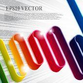 Multi farbige Schleife Streifen auf einem grauen Hintergrund mit dem Strahlen und Sternen bewertet.