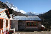 foto of sherpa  - a sherpa lodge in the village of dingboche - JPG