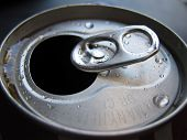 image of orifice  - Orifice side of an opened soda can - JPG