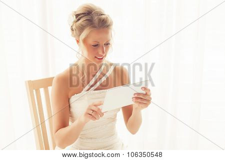 poster of Bride using tablet
