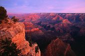 stock photo of grand canyon  - photo of the grand canyron southern rim digitally enhanced - JPG