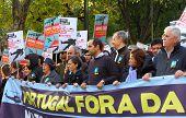 Anti-nato Protests In Lisbon