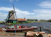Wind Mills In Zaanse Schans, Travel Destination poster