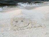 Beach  Good Morning Happy Face