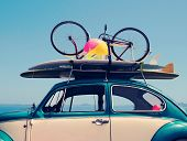 Vintage Summer Holiday Road Trip Vacation poster