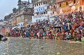 Indian People In Holy Varanasi