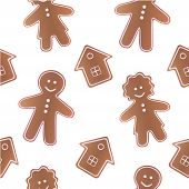 Gingerbread seamless pattern