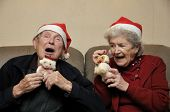 Senior Couple Celebrating Christmas