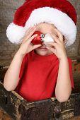 Playful Christmas Boy