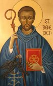 stock photo of patron  - Saint Benedict of Nursia - JPG
