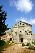 picture of euphrat  - ruins of ancient simonis abbey in syria - JPG