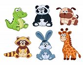 Постер, плакат: Cartoon animals