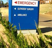 Outpatient Surgery Emergency Sign