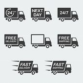 Delivery Icon Set poster