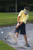 Golfing Child In Bunker