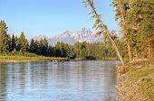 Rafting On Snake River In Grand Tetons National Park