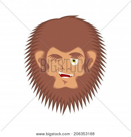 Bigfoot Winks Emoji Yeti Joyful