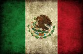 Grunge Mexican flag