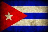 Постер, плакат: гранж кубинского флага