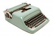 Retro typewriter isolated