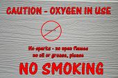 Oxygen in Use - No Smoking Sign