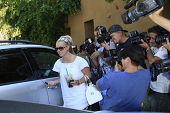 LOS ANGELES - 6 SEP: Britney Spears is out and about and surrounded by photographers in Los Angeles,