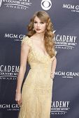 LAS VEGAS - APR 03:  Taylor Swift arrives for the 46th Academy of Country Music Awards at the MGM Grand Hotel and Casino in Las Vegas, Nevada on April 3, 2011.