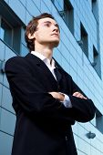 Young Confident Businessman Portrait