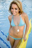 Attractive Woman In Swimming Pool