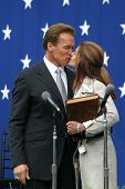 SACRAMENTO - NOV 17: Arnold Schwarzenegger, Maria Shriver at the inauguration of the new Governor in Sacramento, CA on November 17, 2003.
