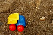 Toy Truck On  Sand poster