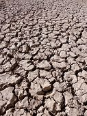 dried muddy river bed