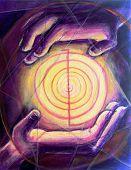 Reiki Healing Hands Painting