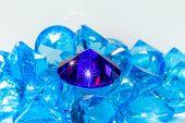 Blue Diamond On White Background poster