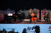 LVIL, UKRAINE - JUNE 3: Ron Carter Trio in concert during Alfa Jazz Festival on June 3, 2011 in Lviv