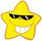 Happy Little Star With Sunglasses