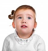 Portrait Of The Capricious Little Girl