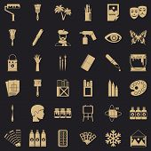Art College Icons Set. Simple Set Of 36 Art College Vector Icons For Web For Any Design poster