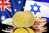 Concept For Investors In Cryptocurrency And Blockchain Technology In The Australia And Israel. Bitco poster