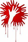 abstrakte blutigen Händen
