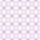Pink Geometric Seamless Pattern. Hand Drawn Watercolor Ornament. Awesome Repeating Design. Ecstatic  poster