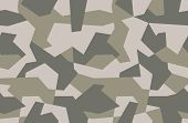 Seamless Geometric Camouflage Pattern. Military Texture With Debris Shape. Khaki Forest, Soldier Cam poster