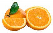 Orangen isoliert